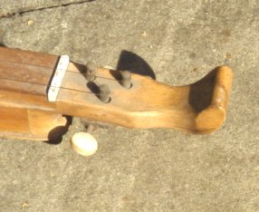 Closeup of the Burns style headstock