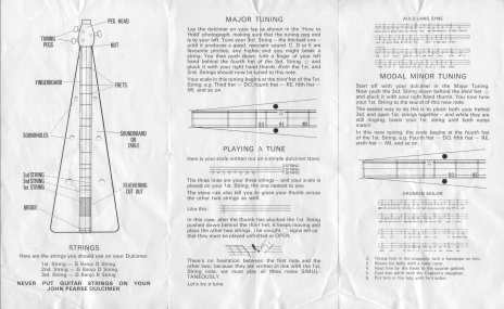 Side two of the Rosetti John Pearce Dulcimer instructions